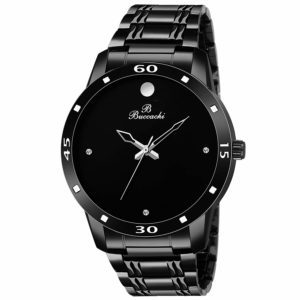Buccachi Analouge Latest Black Dial Wrist Watch