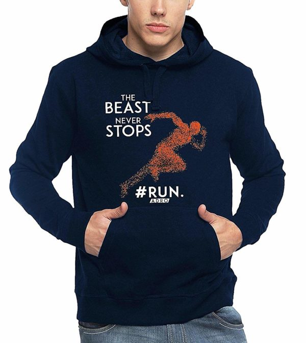 Adro Men's Motivation Workout Printed Cotton Hoodies
