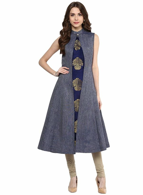 smartshop Womens Denim Long Kurti