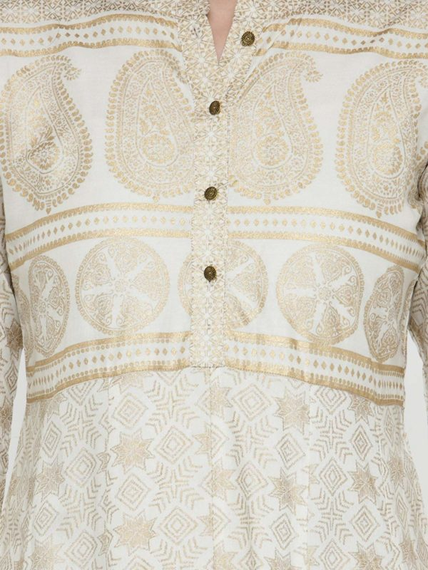 Varanga Off-White Gold Print Kurta